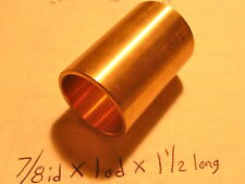 Bronze Bushing Bearing New 7/8 id x 1 od x 1 1/2 Brass motor gearbox oilite new