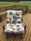 OctoRose Canvas Flower Chair Cushion Cover Futon Cover Chair and Ottoman Covers
