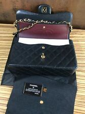 Chanel Womens Designer Jumbo Classic Flap Bag Handbag RRP £4450 Caviar Gold