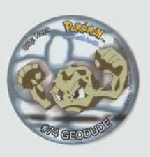 Tasos. Rare Geodude Pokemon 1995 - 1998 #74 Taso No 30. Gotta catch 'em all!