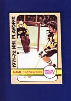NHL Playoffs Game 3 1972-73 O-PEE-CHEE OPC Hockey #30 (EX) Boston Bruins