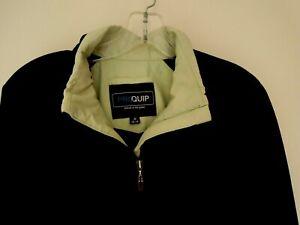 PROQUIP  Black/Green  AHEAD OF THE GAME  Golfing Jacket  *MEDIUM 12-14 Womens