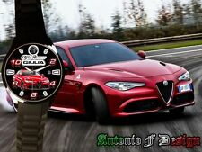 Orologio da polso personalizzato Alfa romeo Giulia Quadrifoglio