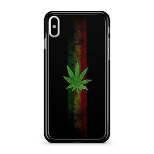 Marijuana Cannabis Weed Ganja Leaf Green Yellow Red Stripes 2D Phone Case Cover