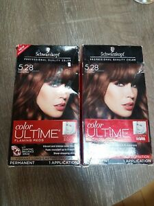 2 Pack SCHWARZKOPF COLOR ULTIME FLAMING REDS - 5.28 COCOA RED