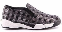 Scarpe Donna Sneakers Slip On PINKO 1H208D Sequins1 ZZF Silver Shine Baby Shine