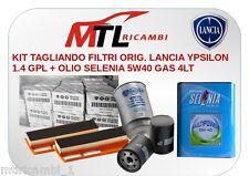 KIT TAGLIANDO FILTRI ORIG. LANCIA YPSILON 1.4 GPL + OLIO SELENIA 5W40 4LT.