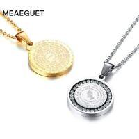 Gold Kreuz Halskette Anhänger Herren Kette Edelstahl Damen Jesus Schmuck Maria 7
