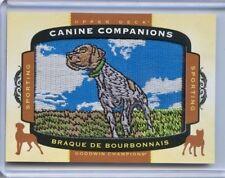 2017 UD Goodwin Champions Canine Companions Patch CC6 Braque De Bourbonnais