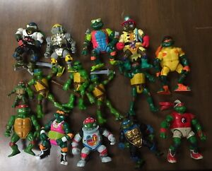 15 Vintage Teenage Mutant Ninja Turtles Action Figures Lot Free Shipping