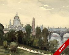 ST PAULS CATHEDRAL LONDON ENGLAND ENGLISH LANDSCAPE ART PAINTING CANVAS PRINT