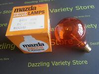1 x MAZDA Decor 40W AMBER BC B22 R95 Globe Decorative Lamp Vintage Light Bulb
