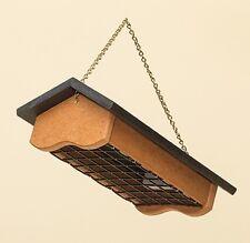 Suet Bird Feeder - 2 Cake Upside-Down Amish Handmade Recycled Poly - Black/Cedar