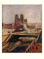 """1973 Vintage MATISSE """"NOTRE-DAME (NOTRE DAME, PARIS)"""" COLOR offset Lithograph"""