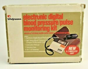 Blood Pressure Kit VINTAGE Walgreens Electronic Digital Self-Taking Japan Works