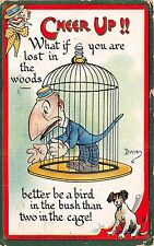 POSTCARD  COMIC    CHEER  UP  !!  What if you are lost....    Tuck