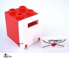 NEUF 4 Pièces Lego Carreau 3069bp01 lettre 1x2