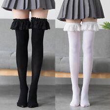 Womens Girls Cute Lolita Lace Over Knee Thigh High Stockings Long Socks