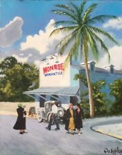 "Original Painting ""Key West-1930"" Acrylic on Canvas, 16""x20"", by C. Pecharka"