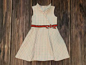 Girls Janie And Jack Sleeveless Ruffled Dress Summer Dress Size 5