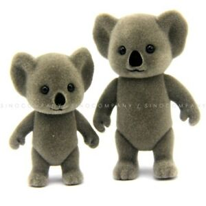 """Lot 2Pcs Sylvanian Families Koala Family mom & baby 3"""" Figure Cute Dollhouse toy"""