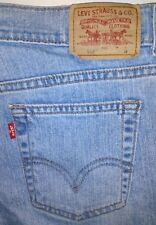Levis Womens Stretch 515 NOUVEAU Boot Cut Blue Jeans 12 M Red Tab (33x29) i545p4
