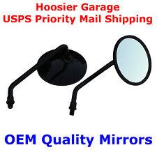 """Black 4"""" Round Motorcycle Mirrors - Suzuki GS550 GS750 GS850"""