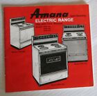 Vintage 1970's Amana Self-Cleaning Electric Range Stove Use/Care Manual Booklet photo