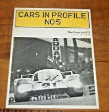 CARS IN PROFILE nUMBER 5 THE PORSCHE 917 BY PAUL FRERE  SOFTBOUND BROCHURE 24 PP
