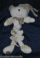 Peluche Doudou Plat Ours Blanc Beige MGM DODO D'AMOUR Musical Spirale TTBE