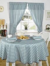 """Emma Barclay  """"MOLLY"""" Gingham Check GREEN Tablecloth 160CM ROUND 63"""" INCH"""