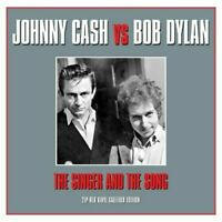 JOHNNY CASH vs BOB DYLAN- THE SINGER AND THE SONG - 2 LP GATEFOLD SET RED VINYL