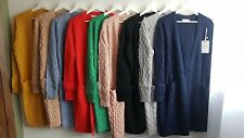 NEW Women Knitted Cardigan Open Coat Chunky Winter Sweater Jacket Jumper size L