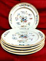 International Tableworks Heartland 7774 Stoneware China Set Of 5 Dinner Plates