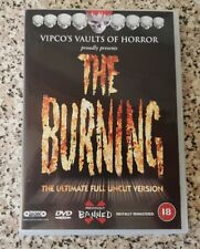 THE BURNING Vipco Ultimate Full Uncut Version DVD Region 2 RARE BRIAN MATTHEWS