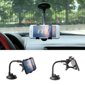 Adjustable Gooseneck Suction Cup Car Windshield Cradle for Cell Phone GPS iPhone