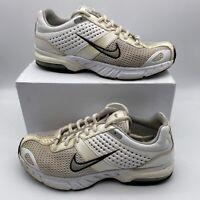 Nike Womens Air Lace Up Athletic Running Shoes Tan White Size US 6.5 321520101