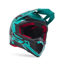 L Large ProGrip MX Motorbike Helmet 3095 Black/Aqua (Blue/Green) Whip