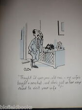 "CLIFFORD C LEWIS ""CLEW"" Original Pen & Ink Cartoon - Husband on the Phone #247"