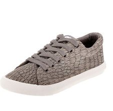 NEW ROCKET DOG GRAY CAMPO ATHLETIC SNEAKER SHOES WOMENS 8 COTTON FREE SHIP
