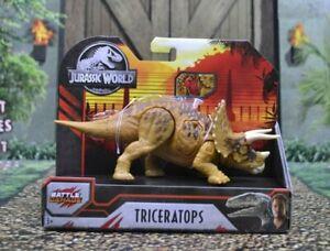 Triceratops (Yellow) Battle Damage Primal Attack Jurassic World New !!!!!