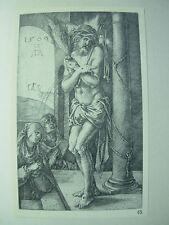 Albrecht DURER VINTAGE incisione su rame Uomo di dolori PASSIONE-N. 1