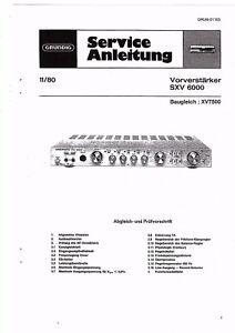 Grundig Service Manual für SXV 6000 Qualität ausreichend baugleich XV 7500 Copy