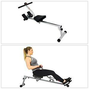 Rowing Machine Rower w/ 12 Level Adjustable Resistance LCD Monitor Compact