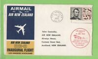 U.S.A. 1965 Air New Zealand DC-8 Flight cover, Los Angeles to Auckland