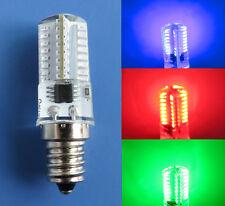 E12 Candelabra C7 LED bulb Red/Green/Blue/White/Warm 64Led 120V Christmas Light