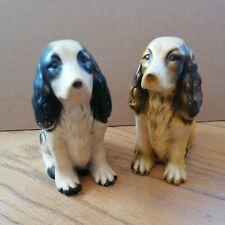 More details for antique pair of ceramic spaniels 16cmx13cm 1920s