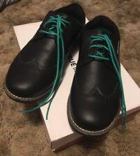 NIB True Linkswear True Gent Men's Wingtip Golf Shoes Size 9.5 Black/Black