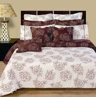 Cloverdale Reversible Duvet Cover 11 PC 100% Cotton Printed Bedding Set