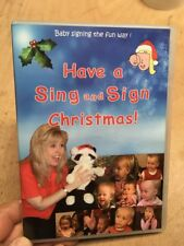Have A Sing and Sign Christmas-Sasha Felix(UK DVD)Xmas Songs Baby Signing